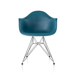 Eames Molded Plastic Arm Chair, Wire Base, DAR