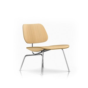 Eames Molded Plywood Lounge Chair, Metal base, LCM.A2