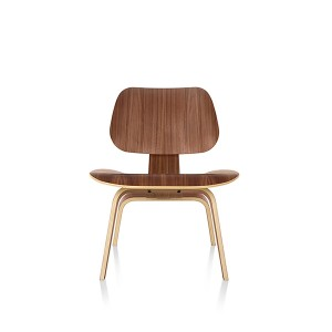 Eames Molded Plywood Lounge Chair, Wood base, LCW.OU/9N