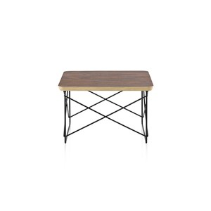 Eames Wire Base Low Table, Walnut