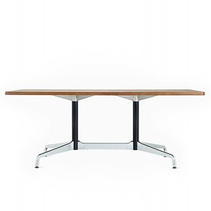 Eames Table with Rectangular Top, Segmented Base, Walnut
