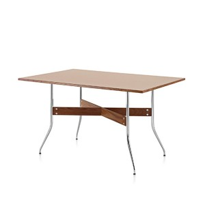 Nelson Swag Leg Dining Table with Rectangular Top, Walnut