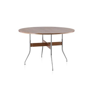 Nelson Swag Leg Dining Table with Round Top, Walnut