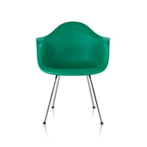 Eames Molded Plastic Arm Chair, 4-leg Base, DAX