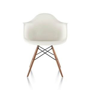 Eames Molded Plastic Arm Chair, Dowel Base, DAW