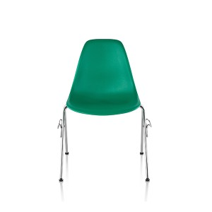 Eames Molded Plastic side Chair, Staking Base, DSS