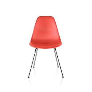 Eames Molded Plastic Side Chair, 4-leg Base, DSX