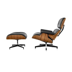 Eames Lounge Chair And Ottoman, Walnut
