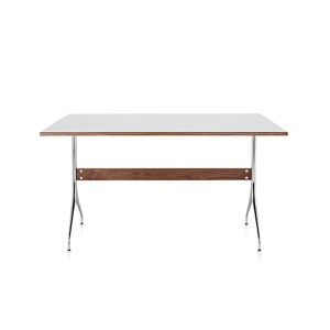 Nelson Swag Leg Work Table, White