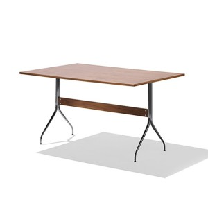Nelson Swag Leg Work Table, Walnut