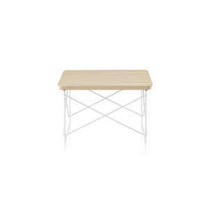 Eames Wire Base Low Table, White ash