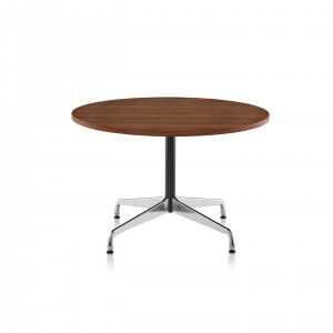 Eames Table with Round Top, Segmented Base, Walnut