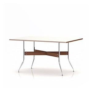 Nelson Swag Leg Dining Table with Rectangular Top, White